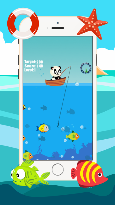 Panda fishing game for children age 2-5 screenshot three