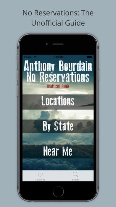 No Reservations TV Unofficial Guide Screenshot