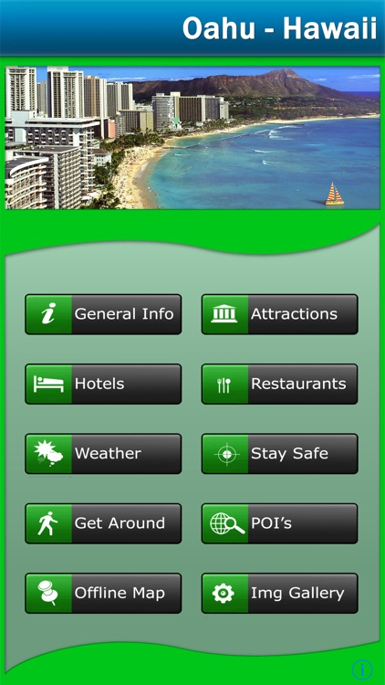 Oahu - Hawaii Offline Map Explorer