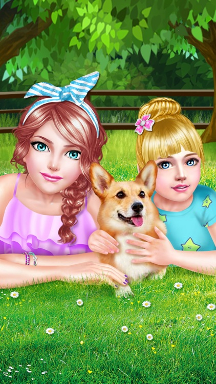 Sweet Sisters Cute Pet Salon - Spa, Makeup & Dressup Game for Girls