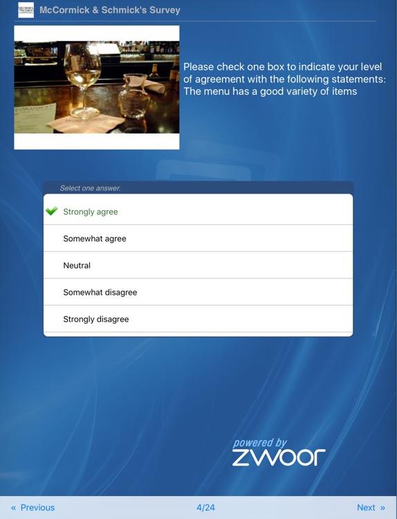Zwoor Survey for iPad