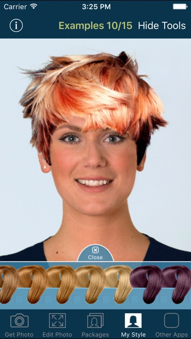 Hairstyle Try On screenshot1