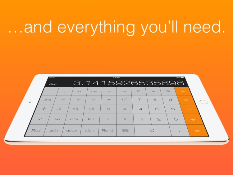 Calculator HD - the missing calculator on your iPad