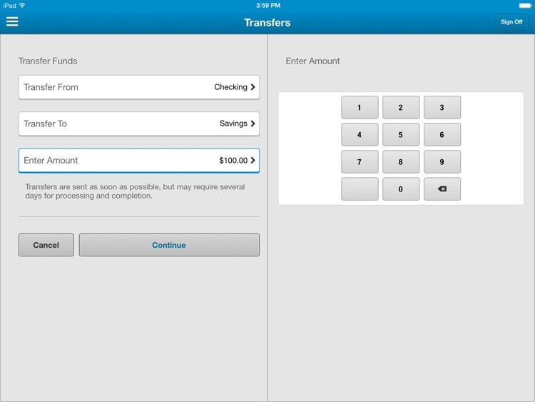 INTRUST Banking for iPad