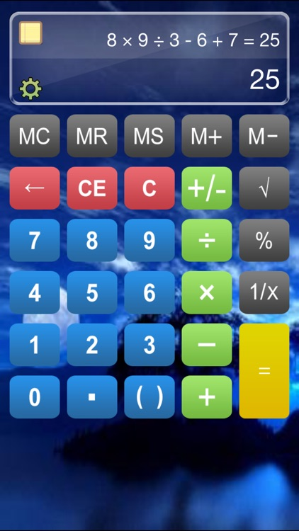 Calculator HD% Free - Basic Calculater App Pro with Formula Display & Notable Paper Tape for the iPad,iPhone and iPod