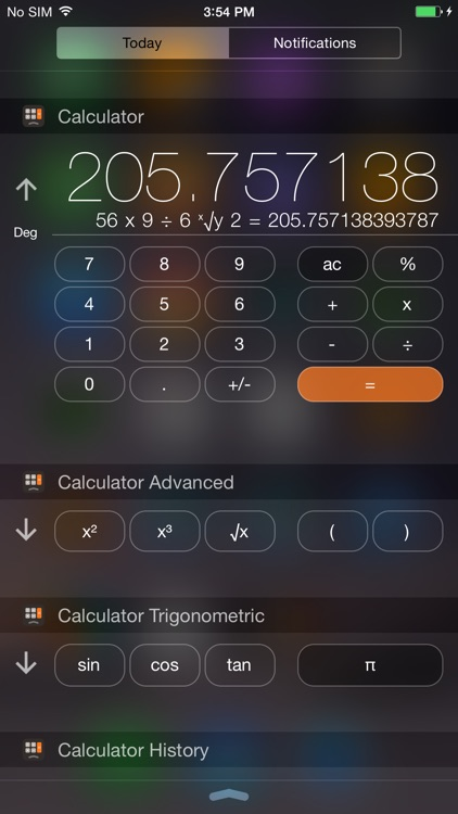 Calculator Widget Pro