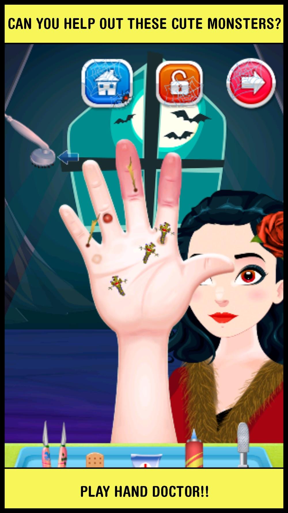 Baby Pet Monster Salon Doctor – little halloween make up & nail makeover games for kids