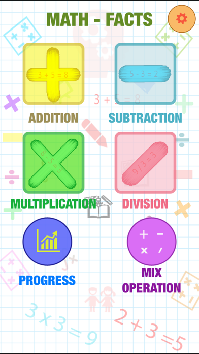 Screenshot #1 pour Math Fact Montessori : Addition, Subtraction, Multiplication, Division And Mix Operation