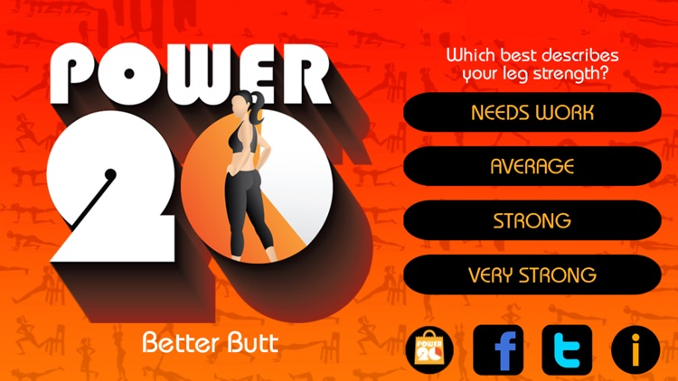 20 Minute Butt Workouts Free: Power 20
