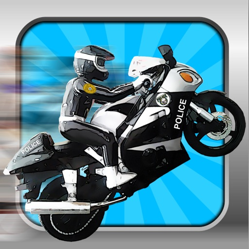 A Motorcycle Race Track Police Chase Smash icon