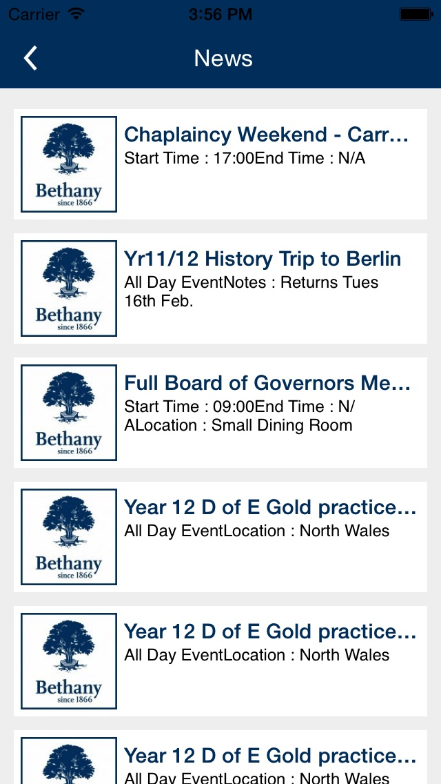 Bethany School Kent screenshot two