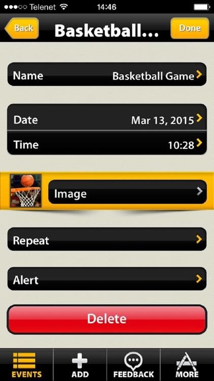 Sporting Event Countdown (Soccer,Hockey,Tennis,..) screenshot-3