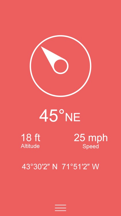 Compass Zen PRO - Minimalist compass with altimeter, speedometer, and more screenshot-3