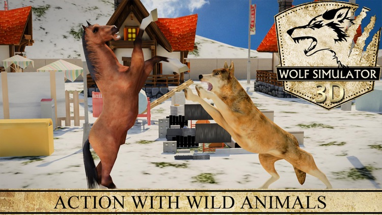 Wolf Simulator 3D - Revenge of Wild Beast and Animals Hunting Attack Game in Winter Snow Farm screenshot-3