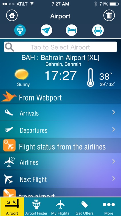 Bahrain Airport - Flight Tracker Premium Gulf Air screenshot-1
