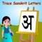 This app will convert your phone/tablet/iPod/iPad into a useful instrument which can teach how to write and pronounce Sanskrit and English letters