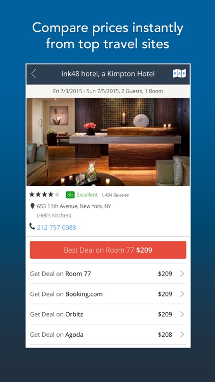Room 77 - Hotel Search and Price Comparison screenshot-1
