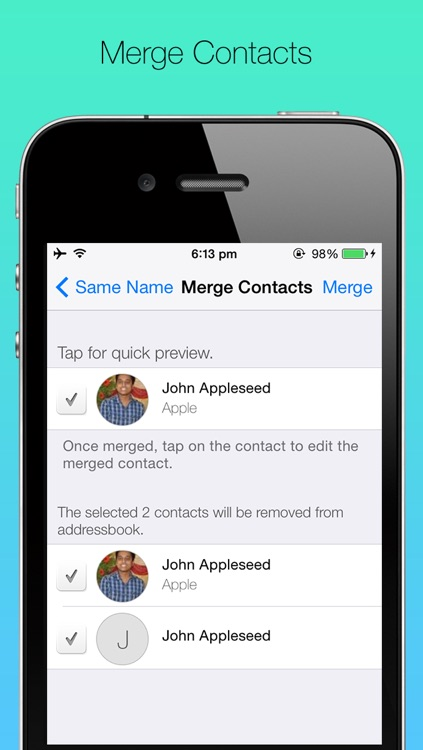 ContactBox: Group mail/sms, merge/delete contacts and backup contacts: screenshot-3