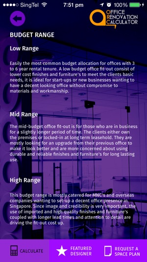 office renovation calculator on the app store