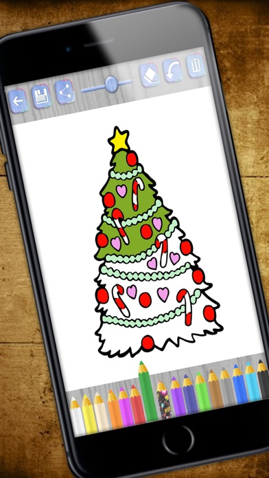 download Paint Christmas magic - Christmas coloring pages - PREMIUM apps 1