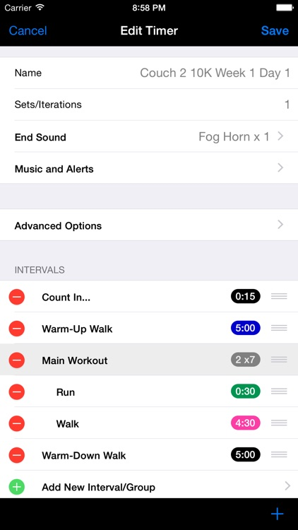 FlexiTimer Interval Timer (Running, HIIT, Circuits, Tabatas, Rounds, Weight Training etc.) screenshot-3