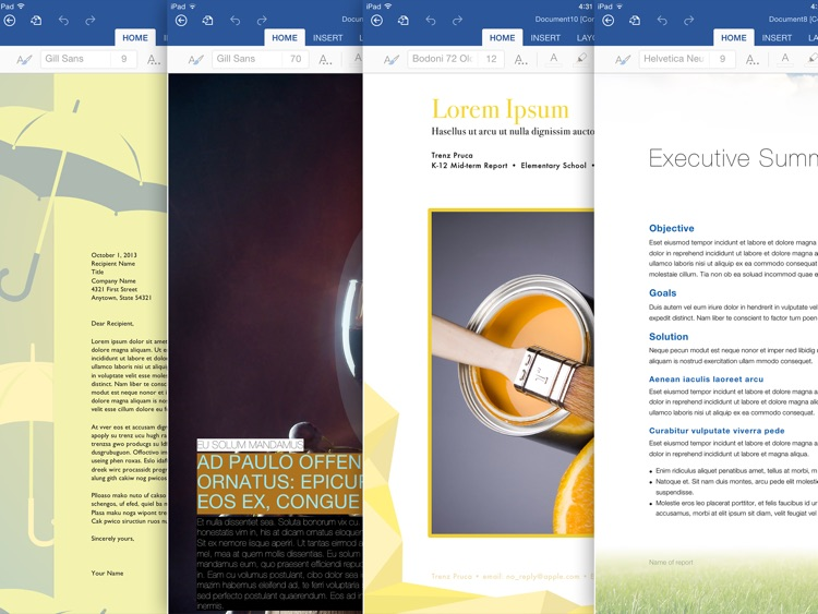 Templates for MS Word: Documents for iPad screenshot-4