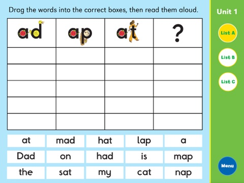 Letterland Grade One Word Sort App Price Drops