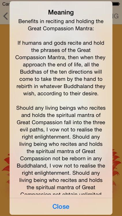 Buddha Mantras For Meditation PRO screenshot-3