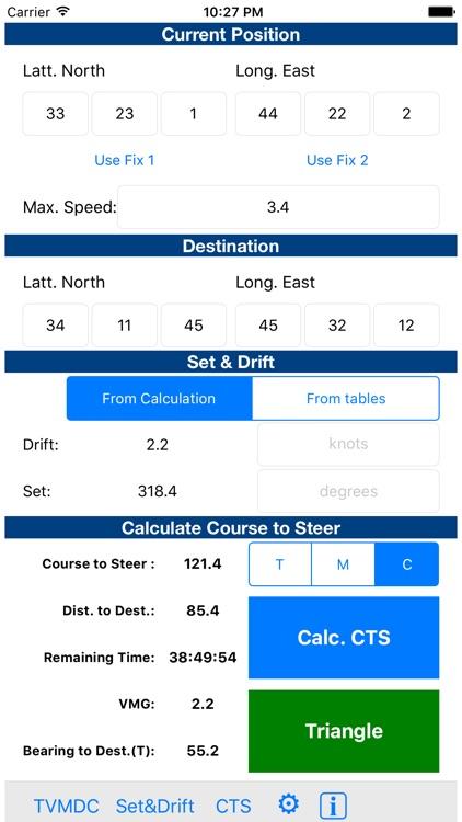 TVMDC Sailing & Marine Navigation Calculator