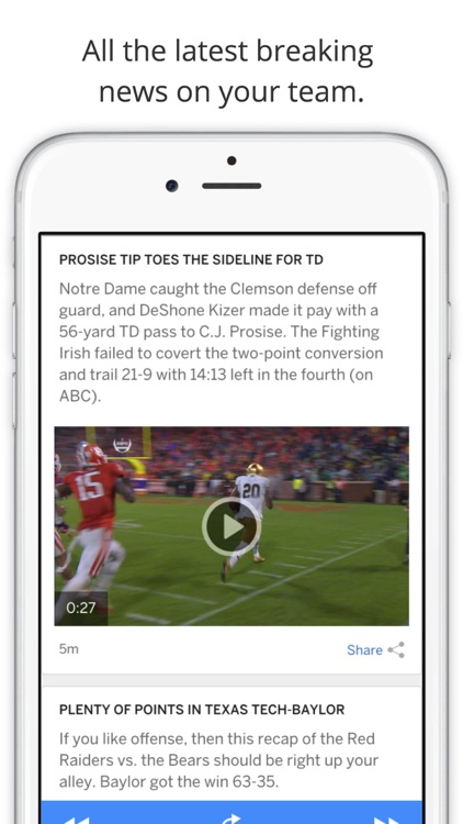 GameDay College Football Radio - Live Games, Scores, News, Highlights, Videos, Schedule, and Rankings screenshot-3