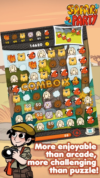 Safari Party - Match3 Puzzle Game with Multiplayerのおすすめ画像1
