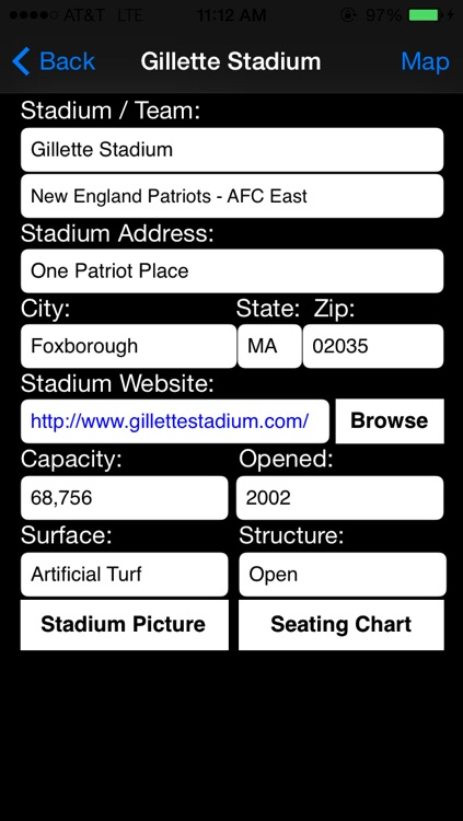 Pro Team Stadiums Football AFC NFC screenshot-3