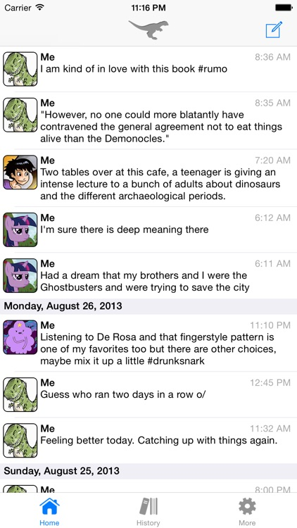 Stenosaur Personal Microjournal screenshot-0