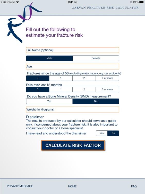 Garvan Fracture Risk Calculator