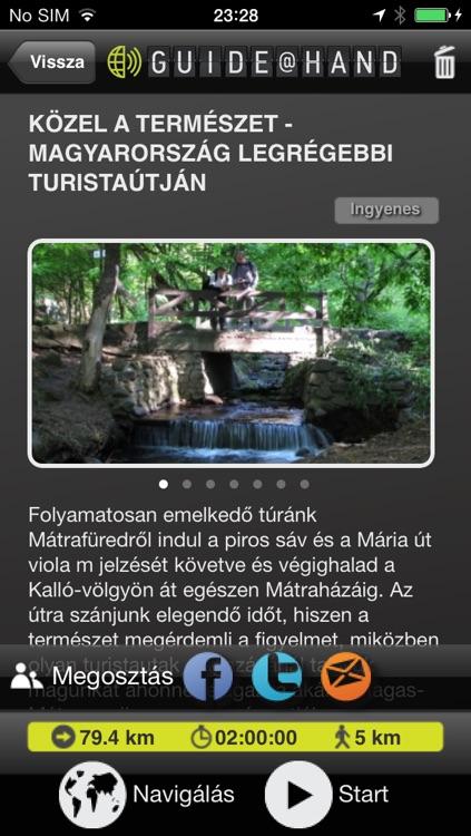 Mátra GUIDE@HAND, Audio and Map screenshot-3