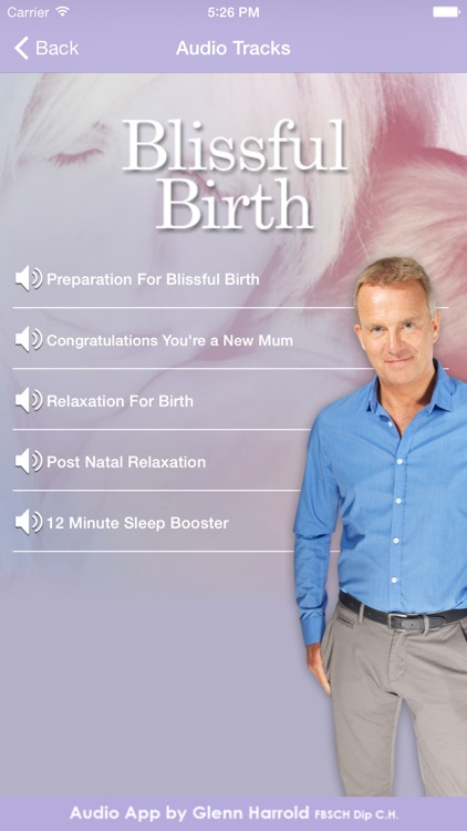 Blissful Birth by Glenn Harrold & Janey Lee Grace: Advice & Self-Hypnosis Relaxation
