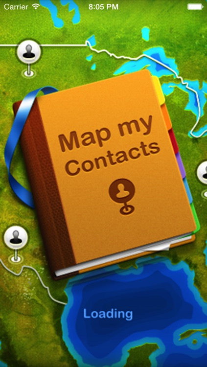 Map Contacts Free screenshot-0