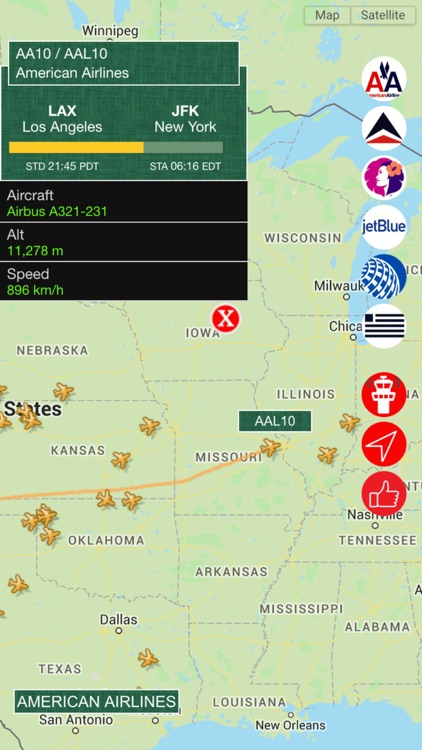 Air USA Pro - Live Flight Tracking & Status for United, American, Alaska, Delta, Hawaiian, Jetblue , US Airlines