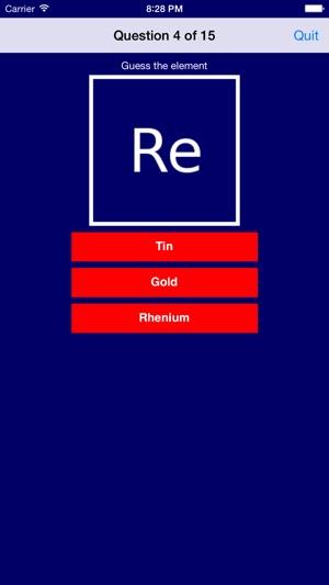 Atomic Element Quiz