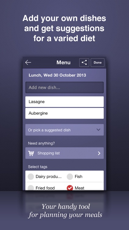 Chef Plan - Meals planning & grocery list