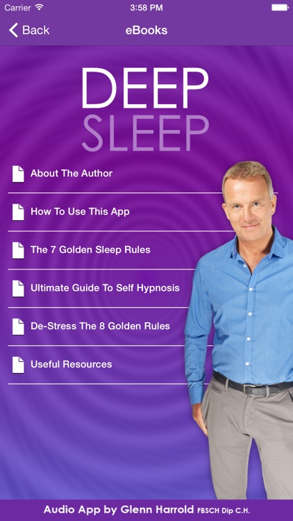 Deep Sleep by Glenn Harrold, a Self-Hypnosis Meditation for Relaxation screenshot-3