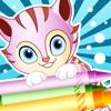 塗り絵の本 子供のための猫の: ペイントすることを学ぶ