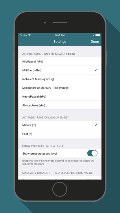 Bar-o-Meter - Altimeter & Barometer screenshot four