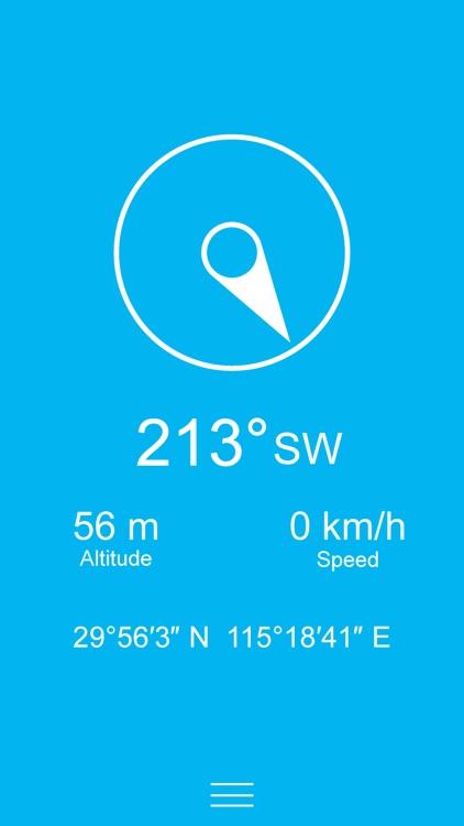 Compass Zen - Minimalist compass with altimeter, speedometer, and more screenshot-0
