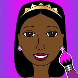 A Pretty Brown Princess Coloring Book