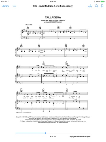 Talladega Sheet Music By Eric Church On Apple Books