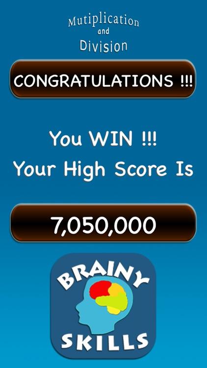 Brainy Skills Multiplication and Division screenshot-4