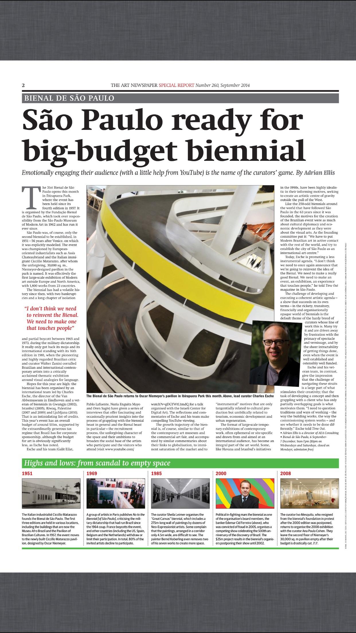 The Art Newspaper Screenshot