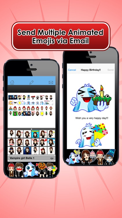 Emoji Kingdom 14 Free Vampire Halloween Emoticon Animated for iOS 8 screenshot-3