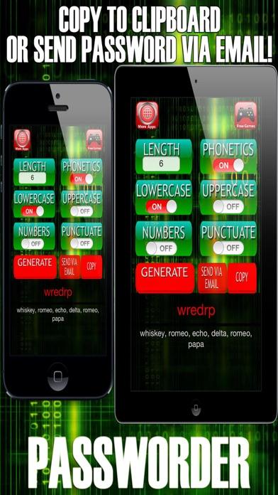 Passworder - Random Password & Keycode Generator screenshot three
